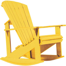 "Generations Adirondack Rocking Chair, Yellow, 34""L x 24""W x 40""H"