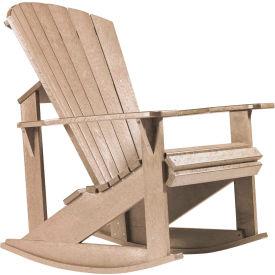 """Generations Adirondack Rocking Chair, Beige, 34""""L x 24""""W x 40""""H"""