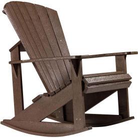 "Generations Adirondack Rocking Chair, Chocolate, 34""L x 24""W x 40""H"