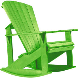 "Generations Adirondack Rocking Chair, Kiwi Green, 34""L x 24""W x 40""H"