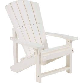"Generations Kids Adirondack Chair, White, 24""L x 20""W x 27""H"