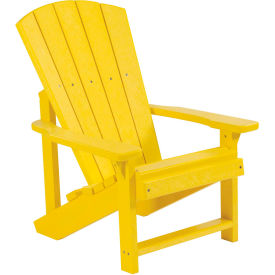 "Generations Kids Adirondack Chair, Yellow, 24""L x 20""W x 27""H"