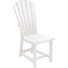 "Generations Dining Adirondack Style Side Chair, White, 19""L x 17""W x 40""H"