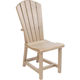 """Generations Dining Adirondack Style Side Chair, Beige, 19""""L x 17""""W x 40""""H"""