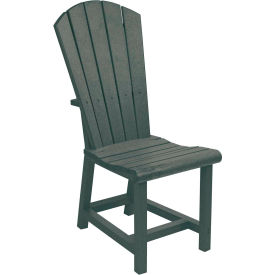 "Generations Dining Adirondack Style Side Chair, Slate, 19""L x 17""W x 40""H"