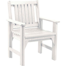 """Generations Dining Slat Back Style Arm Chair, White, 21""""L x 25""""W x 36""""H"""