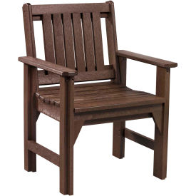 """Generations Dining Slat Back Style Arm Chair, Chocolate, 21""""L x 25""""W x 36""""H"""