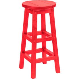 "Generations Dining Pub Style Barstool, Red, 14""L x 14""W x 30""H"