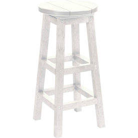 "Generations Dining Pub Style Barstool, White, 14""L x 14""W x 30""H"