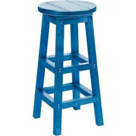 "Generations Dining Pub Style Barstool, Blue, 14""L x 14""W x 30""H"