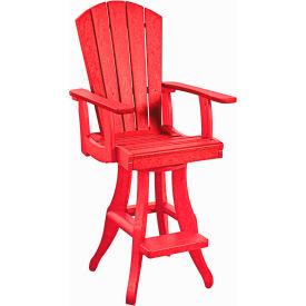 "Generations Swivel Arm Pub Chair, Red, 18""L x 18""W x 48""H by"