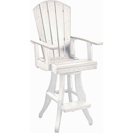"Generations Swivel Arm Pub Chair, White, 18""L x 18""W x 48""H by"