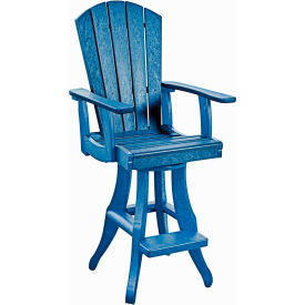 "Generations Swivel Arm Pub Chair, Blue, 18""L x 18""W x 48""H by"