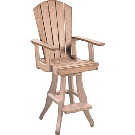 "Generations Swivel Arm Pub Chair, Beige, 18""L x 18""W x 48""H by"