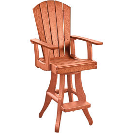 "Generations Swivel Arm Pub Chair, Cedar, 18""L x 18""W x 48""H by"