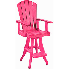 "Generations Swivel Arm Pub Chair, Fuchsia, 18""L x 18""W x 48""H by"