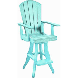 "Generations Swivel Arm Pub Chair, Aqua, 18""L x 18""W x 48""H by"