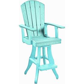 """Generations Swivel Arm Pub Chair, Aqua, 18""""L x 18""""W x 48""""H by"""