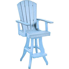 "Generations Swivel Arm Pub Chair, Sky Blue, 18""L x 18""W x 48""H by"