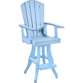 "Generations Swivel Arm Pub Chair, Sky Blue, 18""L x 18""W x 48""H by"
