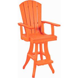"Generations Swivel Arm Pub Chair, Orange, 18""L x 18""W x 48""H by"