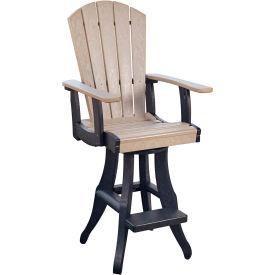 """Generations Swivel Arm Pub Chair, Beige/Black, 18""""L x 18""""W x 48""""H by"""