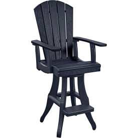 "Generations Swivel Arm Pub Chair, Black, 18""L x 18""W x 48""H by"