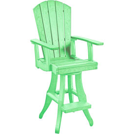 "Generations Swivel Arm Pub Chair, Lime Green, 18""L x 18""W x 48""H by"