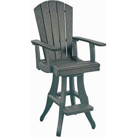 "Generations Swivel Arm Pub Chair, Slate, 18""L x 18""W x 48""H by"