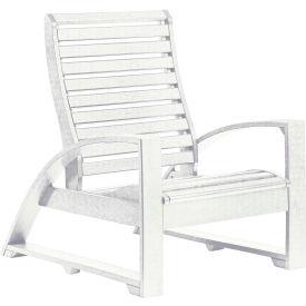 """St Tropez Lounger Chair, White, 41""""L x 29""""W x 38""""H"""