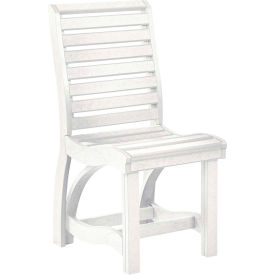 "St Tropez Dining Side Chair, White, 21""L x 18""W x 39""H"