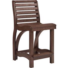 "St Tropez Counter Chair, Chocolate, 21""L x 18""W x 39""H"