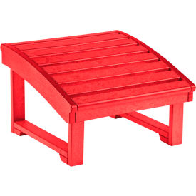 """Generations Upright Adirondack Chair Pull Out Footstool, Red, 32""""L x 22""""W x 14""""H"""
