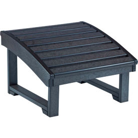"Generations Upright Adirondack Chair Pull Out Footstool, Black, 32""L x 22""W x 14""H"