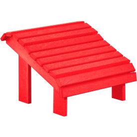 """Generations Premium Footstool, Red, 18""""L x 18""""W x 16""""H"""