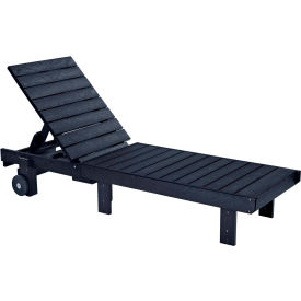 """Generations Chaise Lounge with wheels, Black, 78""""L x 24""""W x 36""""H"""