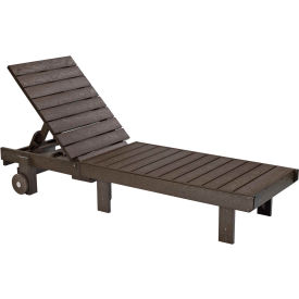 """Generations Chaise Lounge with wheels, Chocolate, 78""""L x 24""""W x 36""""H"""