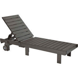 """Generations Chaise Lounge with wheels, Slate, 78""""L x 24""""W x 36""""H"""