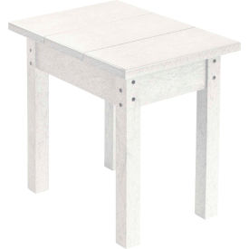 "Generations Small Side Table, White, 17""L x 17""W x 17""H"