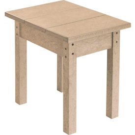 "Generations Small Side Table, Beige, 17""L x 17""W x 17""H"