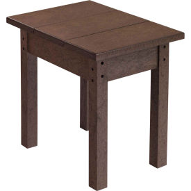 "Generations Small Side Table, Chocolate, 17""L x 17""W x 17""H"