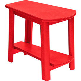 """Generations Tapered Style Accent Table, Red, 29""""L x 18-1/2""""W x 19""""H"""