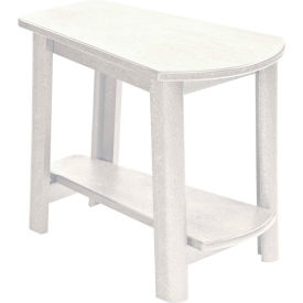 """Generations Tapered Style Accent Table, White, 29""""L x 18-1/2""""W x 19""""H"""