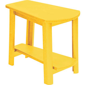 """Generations Tapered Style Accent Table, Yellow, 29""""L x 18-1/2""""W x 19""""H"""