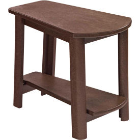 """Generations Tapered Style Accent Table, Chocolate, 29""""L x 18-1/2""""W x 19""""H"""