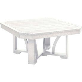 "St Tropez 35"" Square Cocktail Table, White, 35""L x 35""W x 17""H"