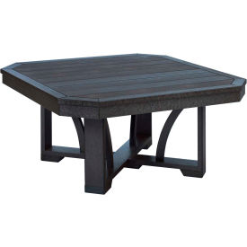 "St Tropez 35"" Square Cocktail Table, Black, 35""L x 35""W x 17""H"