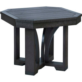"St Tropez 25"" Square End Table, Black, 24-1/2""L x 24-1/2""W x 20""H"