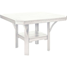 """St Tropez 45"""" Square Dining Table, White, 45""""L x 45""""W x 30""""H"""