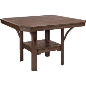 """St Tropez 45"""" Square Dining Table, Chocolate, 45""""L x 45""""W x 30""""H"""
